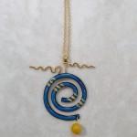 Blue-spiral-enameled-pendant