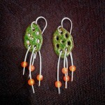 Enameled-lotus-root-earrings