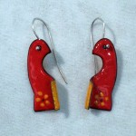Red-bird-enameled