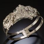 Reticulation-silver-bracelet