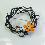 orange flower pin-Shelly